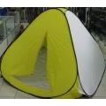 """Палатка-автомат зимняя """"MIFINE"""" 2х2м дно на молнии h-1.70м 3-х местн.(желто-белая)"""